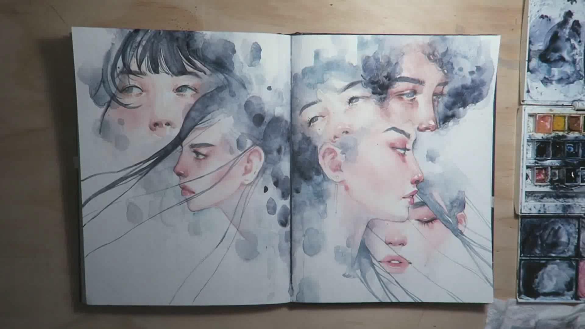 如何用水彩画人物的脸