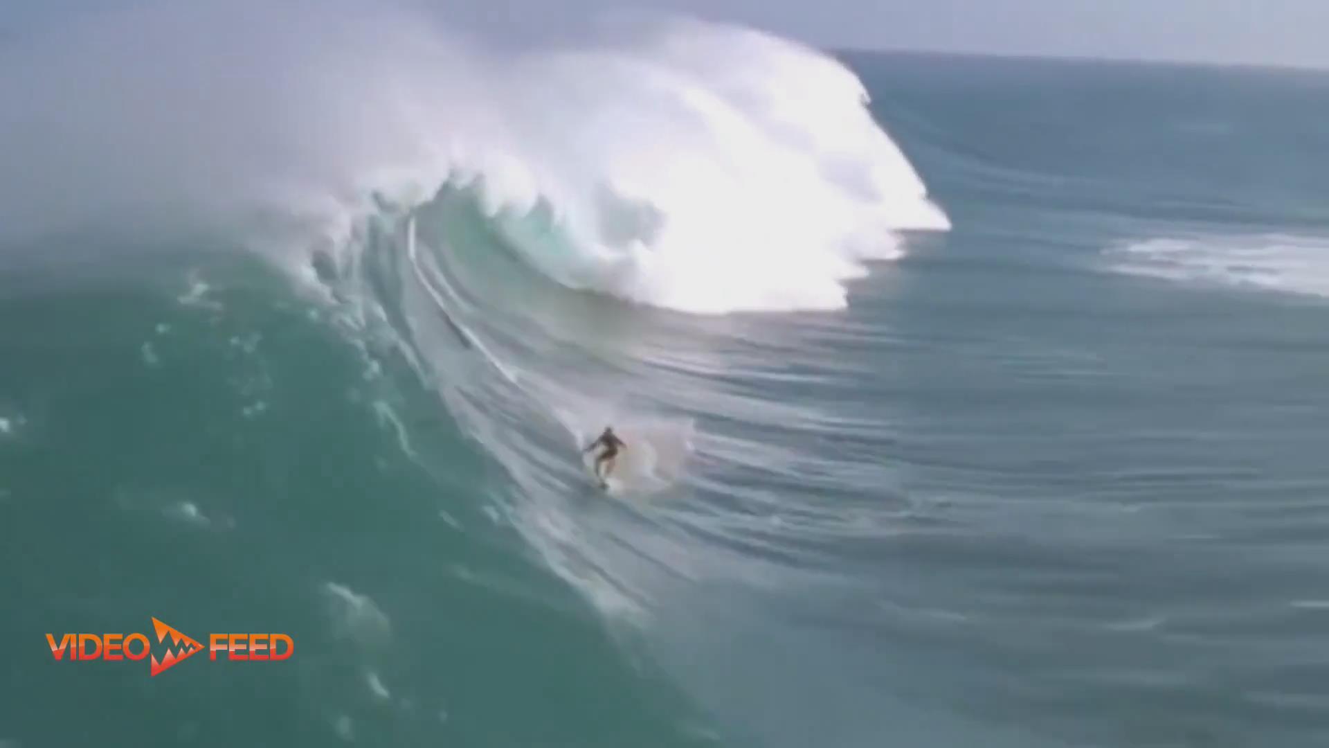 惊艳 ! 超大巨浪冲浪 世界纪录