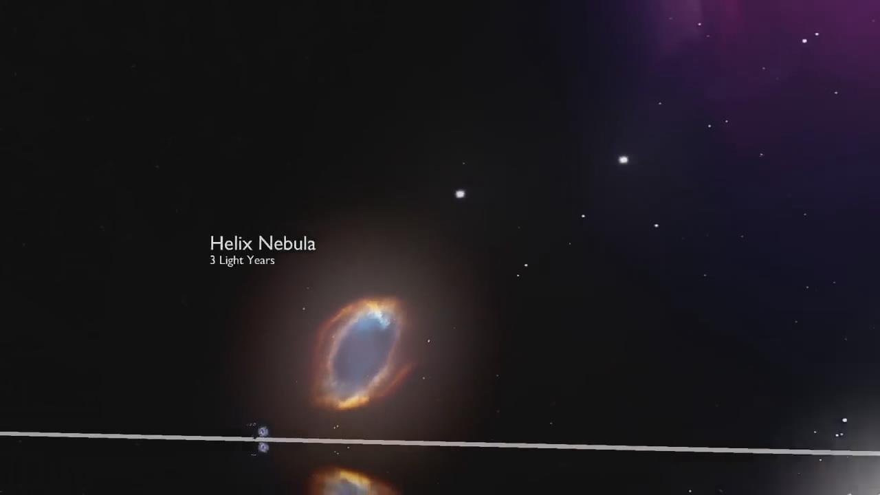 宇宙中的星体尺寸比较!