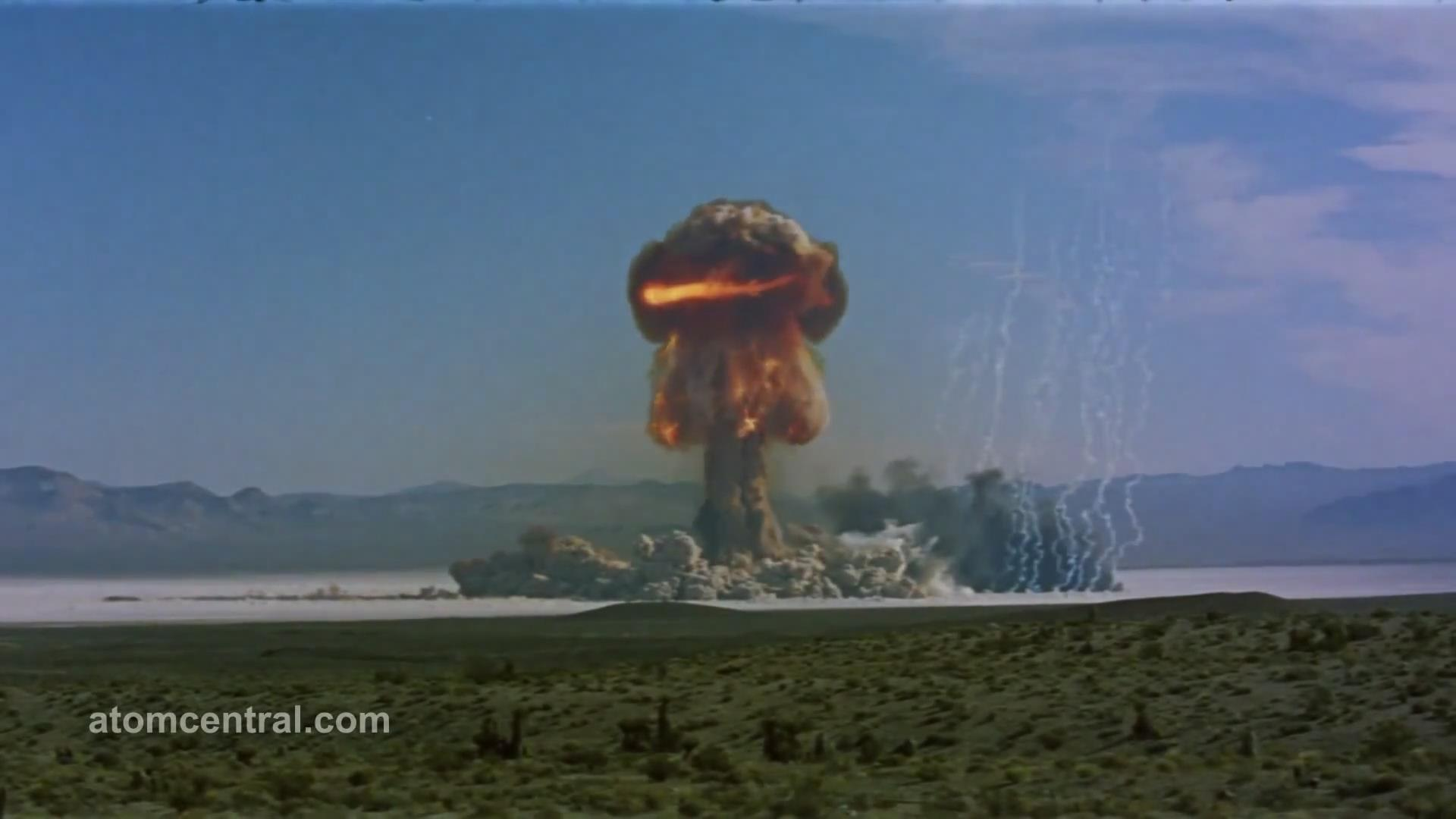 超级核爆炸现场真实录像
